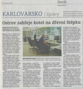 Článek z Karlovarského deníku